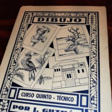 Libros de segunda mano: COLECCIÓN LAMINAS DIBUJO TÉCNICO POR J.GUZMÁN (1963). Lote 277081488