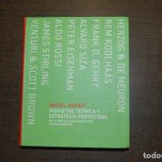 Libros de segunda mano: INQUIETUD TEÓRICA Y ESTRATEGIA PROYECTUAL. RAFAEL MONEO. Lote 277135943