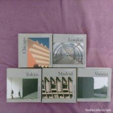 Libros de segunda mano: LOTE DE POCKET ARQUITECTURA KONEMAN VIENA -MADRID -. LONDON-CHICAGO-TOKYO 5 TOMOS INGLES. Lote 278508538