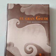 Libros de segunda mano: LIBRO EL GRAN GAUDI DE JUAN BASSEGODA NONELL (AUSA, 1989) PRECINTADO NUEVO 1° EDICION. Lote 284740813