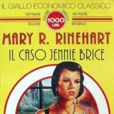 Libros de segunda mano: IL GIALLO ECONOMICO CLASSICO N.47 - IL CASO JENNIE BRICE - GRUPPO NEWTON. Lote 288693728