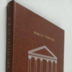 Libros de segunda mano: DE ARCHITECTURA - VITRUVIUS, MARCUS - ARQUITECTURA - VITRUVIO. Lote 288697978