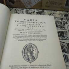 Livros em segunda mão: VARÍA COMMENSURACION PARA LA ESCULTURA Y ARQUITECTURA. JUAN DE ARPHE. FASCIMIL. Lote 290584358