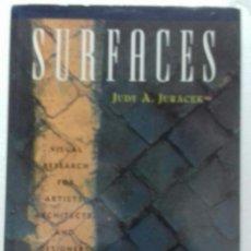 Libros de segunda mano: SURFACES JUDY A JURACEK. Lote 295867498
