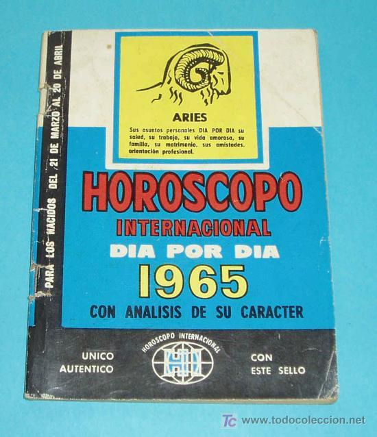 HOROSCOPO INTERNACIONAL DIA POR DIA 1965 CON ANALISIS DE SU PERSONALIDAD. ARIES (Libros de Segunda Mano - Parapsicología y Esoterismo - Astrología)