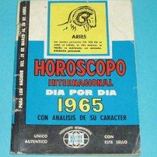 Libros de segunda mano: HOROSCOPO INTERNACIONAL DIA POR DIA 1965 CON ANALISIS DE SU PERSONALIDAD. ARIES. Lote 14043227