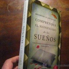 Libros de segunda mano: COMPRENDER EL SIGNIFICADO DE LOS SUEÑOS, ELLEN GUILEY ( ÑÑ4. Lote 205130308
