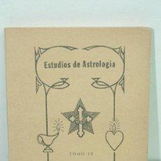 Libros de segunda mano: ESTUDIOS DE ASTROLOGIA TOMO IX SEGUNDA EDICION LA FRATERNIDAD ROSA CRUZ. ELMAN BACHER. EDIT KIER. Lote 32867813