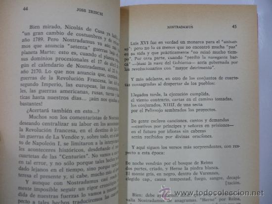 Libros de segunda mano: NOSTRADAMUS. TERRORIFICAS PROFECIAS. JOSS IRISCH. TDK86 - Foto 2 - 38355401
