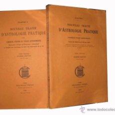 Libros de segunda mano: NOUVEAU TRAITÉ D'ASTROLOGIE PRACTIQUE. TOME PREMIER ET TOME SECOND. CHACORNAC FRÈRÈS. PARIS. 1950. Lote 3506307