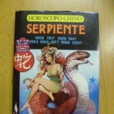 Libros de segunda mano: HOROSCOPO CHINO --- SERPIENTE ----. Lote 50259037