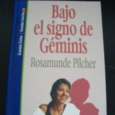 Libros de segunda mano: BAJO EL SIGNO DE GEMINIS. ROSAMUNDE PILCHER. SALVAT TAPA DURA.. Lote 56932733