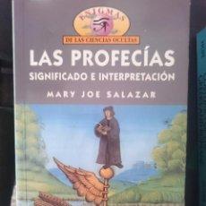 Libros de segunda mano: LAS PROFECIAS SIGNIFICADO E INTERPRETACION - ENIGMAS DE LAS CIENCIAS OCULTAS. Lote 58067037