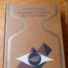 Libros de segunda mano: SERIE OTROS MUNDOS.- GRANDES ENIGMAS DEL UNIVERSO - RICHARD HENNIG - ED. PLAZA & JANES 1971. Lote 58182421
