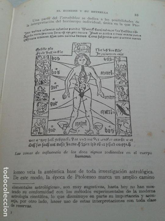 Libros de segunda mano: EL HOMBRE Y SU ESTRELLA (1950). COSMOPSICOLOGÍA, ASTROLOGÍA, HOROSCOPO. MUY ILUSTRADO. - Foto 3 - 66964146