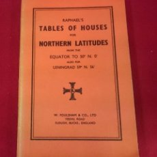 Libros de segunda mano: TABLES OF HOUSES NORTHERN LATITUDES, (INGLÉS). Lote 69973205