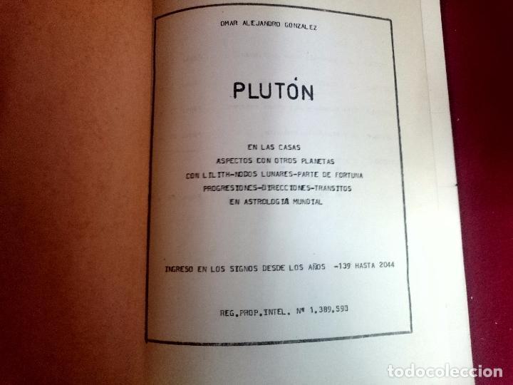 Libros de segunda mano: Pluton - Omar Alejandro Gonzalez - Foto 2 - 72057267