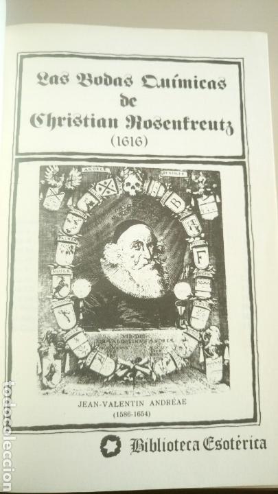 Libros de segunda mano: Las bodas químicas de Christian Rosenkreutz Primera edición 1980 La Rosa-Cruz. Rosacruces - Foto 3 - 72366193