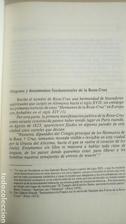 Libros de segunda mano: Las bodas químicas de Christian Rosenkreutz Primera edición 1980 La Rosa-Cruz. Rosacruces - Foto 5 - 72366193