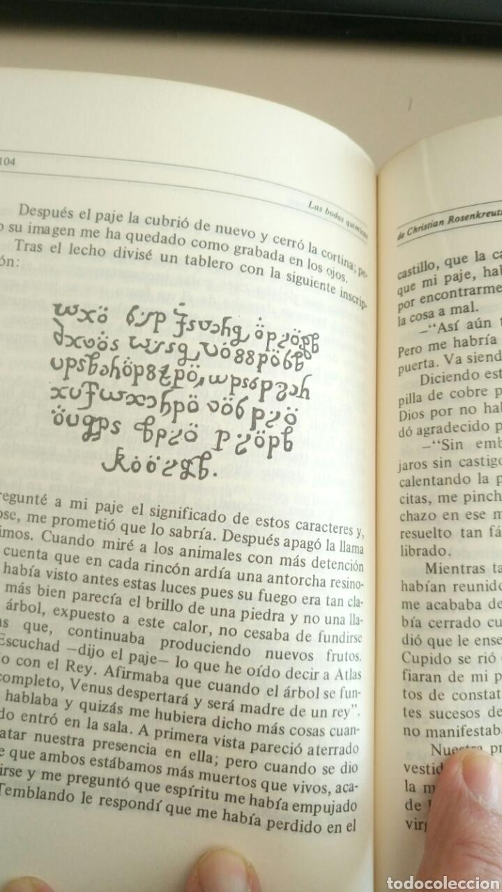 Libros de segunda mano: Las bodas químicas de Christian Rosenkreutz Primera edición 1980 La Rosa-Cruz. Rosacruces - Foto 9 - 72366193