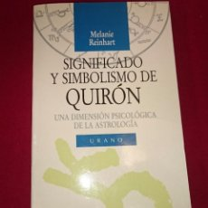 Libros de segunda mano: SIGNIFICADO Y SIMBOLISMO DE QUIRON. Lote 97370007