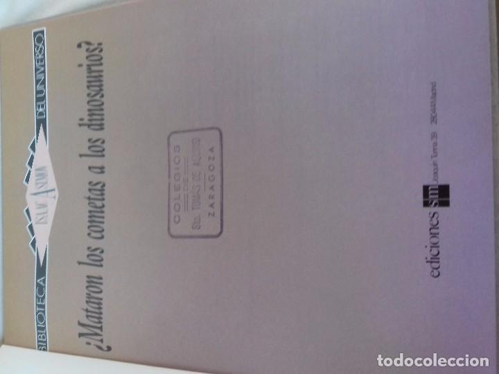 Libros de segunda mano: ¿Mataron los cometas a los dinosaurios?-Isaac Asimov. Biblioteca del Universo 4-EDICIONES SM 1989 - Foto 4 - 97882023