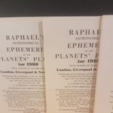 Libros de segunda mano: RAPHAELS ASTRONOMICALS EPHEMERITD OF THE PLANET FOR 1979 -1989(LOTE DE 11) EN INGLÉS. Lote 103701323