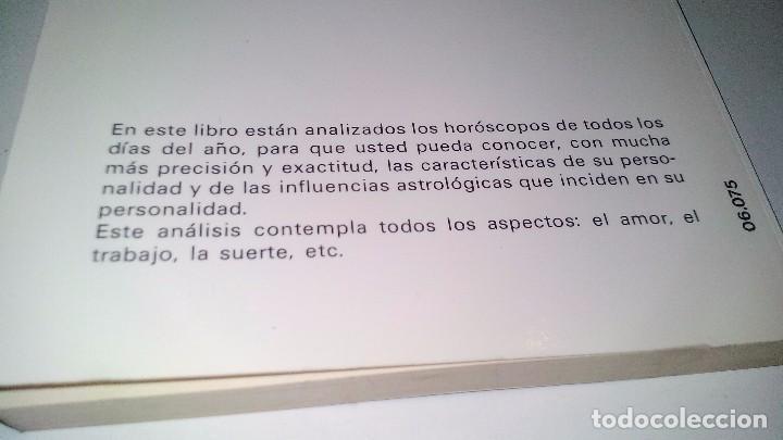 Libros de segunda mano: EL HOROSCOPO SEGUN EL DIA DE NACIMIENTO-MARTA CARRERAS / EDITORIAL DE VECCHI 1988 - Foto 3 - 105847763