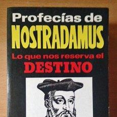 Libros de segunda mano: PROFECIAS DE NOSTRADAMUS - EDICION ESPECIAL - KLAUS BERGMAN. Lote 113960067