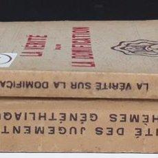 Libros de segunda mano: LES MAITRES DE L´OCCULTISME. 2 VOLUMENES. EDIT CAHIERS ASTROLOGIQUES. 1947.. Lote 115884367