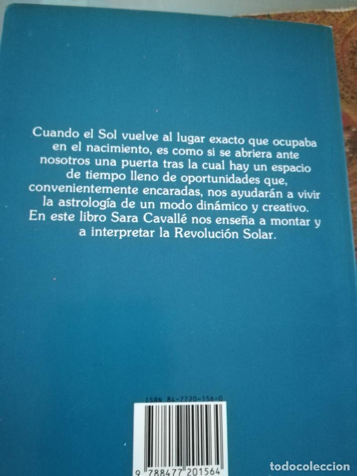 Libros de segunda mano: LA REVOLUCION SOLAR-TECNICA E INTERPRETACION-SARA CAVALLE-EDIC. OBELISCO.1ª EDI 1990 - Foto 3 - 117958815