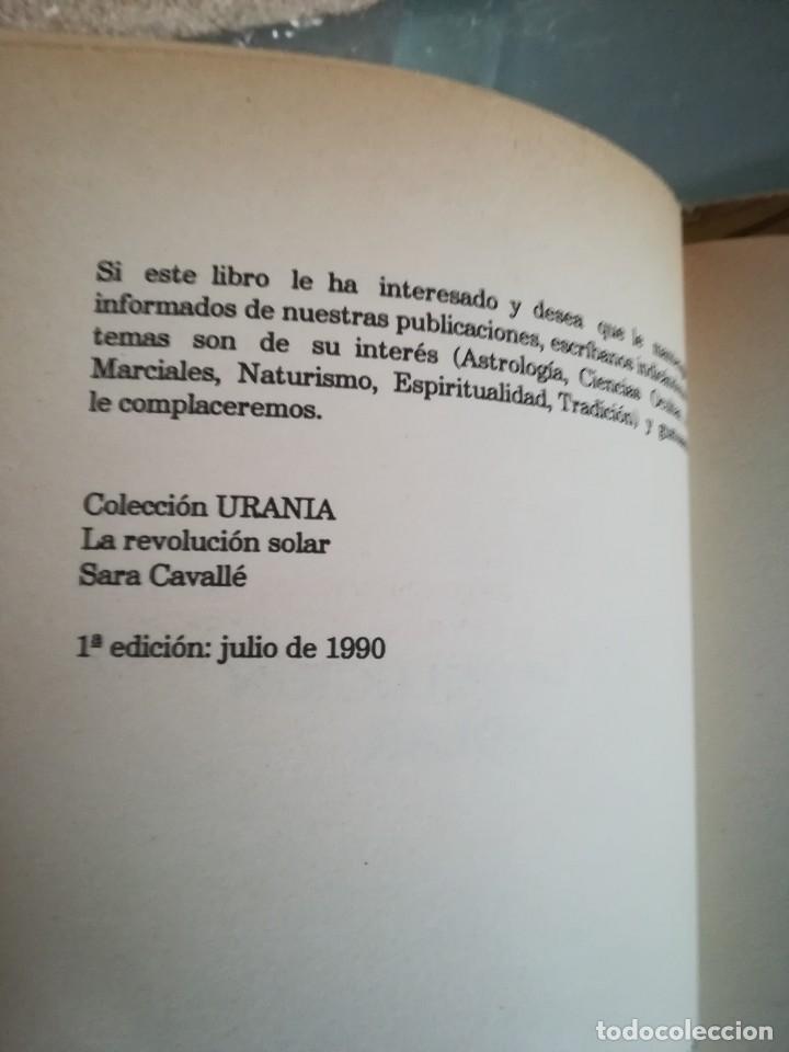 Libros de segunda mano: LA REVOLUCION SOLAR-TECNICA E INTERPRETACION-SARA CAVALLE-EDIC. OBELISCO.1ª EDI 1990 - Foto 5 - 117958815