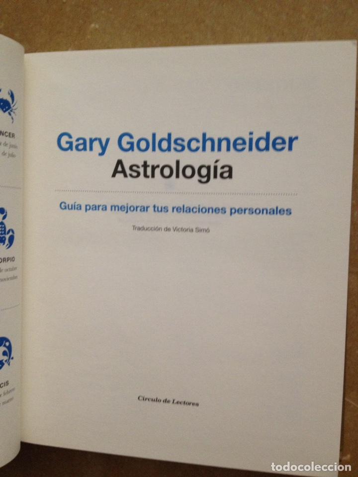 Libros de segunda mano: Astrología. Guía para mejorar tus relaciones personales (Gary Goldschneider) - Foto 2 - 119273234