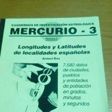 Libros de segunda mano: LONGITUDES Y LATITUDES DE LOCALIDADES ESPAÑOLAS. Lote 119322651