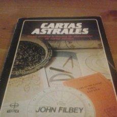 Libros de segunda mano: CARTAS ASTRALES - JOHN FILBEY - EDAF . LA TABLA DE ESMERALDA. Lote 120978511