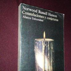 Libros de segunda mano: NORWOOD RUSSELL HANSON, CONSTELACIONES Y CONJETURAS. Lote 143346918