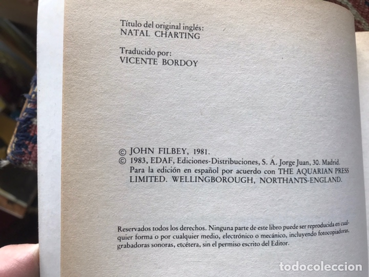 Libros de segunda mano: Cartas astrales. John Filbey - Foto 4 - 158894088