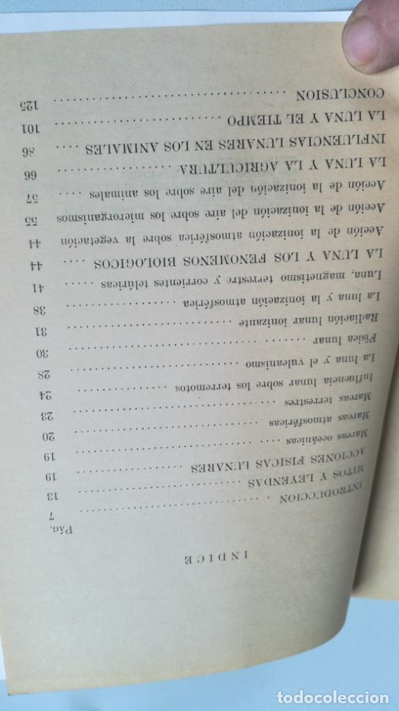 Libros de segunda mano: RAIMUNDO JEMMA LAS INFLUENCIAS LUNARES EN LA VIDA TERRESTRE. SUPERSTICIONES Y REALIDAD BUENOS AIRES - Foto 6 - 161290610