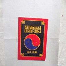 Libros de segunda mano: ASTROLOGIA LUNAR - CHINA DE LUIS M. MAMBY. Lote 161673358