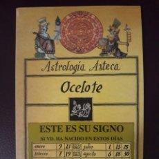 Libros de segunda mano: ASTROLOGIA AZTECA (OCELOTE) - HIPOLITO MOCTEZUMA. Lote 168024176