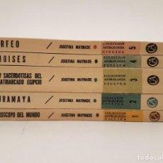 Libros de segunda mano: 5 PRIMEROS VOLÚMENES, ASTROLOGÍA CÍCLICA, (JOSEFINA MAYNADÉ), MEXICO 1967. Lote 171668547