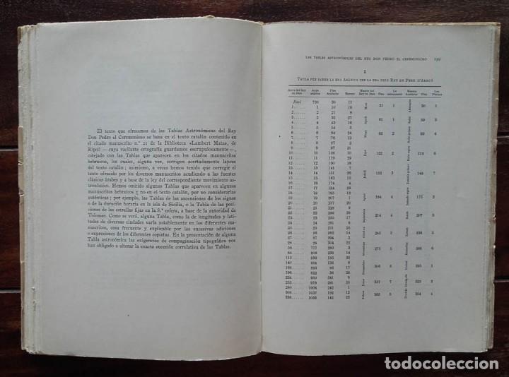 Libros de segunda mano: Las Tablas Astronómicas del Rey Don Pedro El Ceremonioso, Jose. M. Millas Vallicrosa - Foto 6 - 172352030