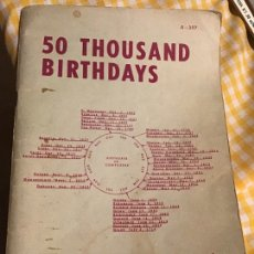 Libros de segunda mano: 50 THOUSAND BIRTHDAYS. PAUL FIELD 1964. Lote 183332925