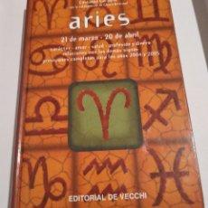 Libros de segunda mano: LIBRO ARIES COSTANZA GARAGLIO EDITORIAL DE VECCHI HOROSCOPO ZODIACO AÑO 2003 / 159 PAG. Lote 191837970