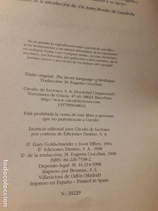 Libros de segunda mano: El lenguaje secreto de los cumpleaños. Destino, 1998. 28x22!! Casi 2,4 k! 832 pags! - Foto 2 - 191806178