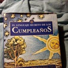 Libros de segunda mano: EL LENGUAJE SECRETO DE LOS CUMPLEAÑOS. DESTINO, 1998. 28X22!! CASI 2,4 K! 832 PAGS!. Lote 191806178