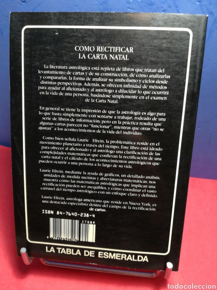 Libros de segunda mano: Cómo rectificar la carta natal/ Laurie Efrein/ Edaf, 1988 - Foto 2 - 196934992