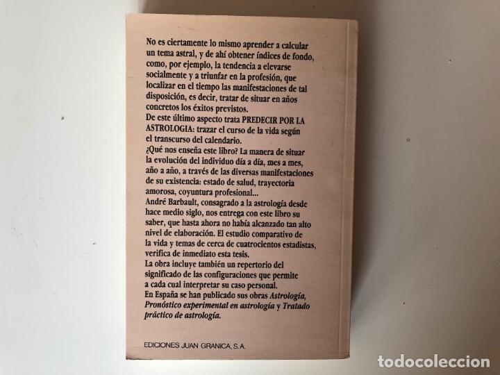 Libros de segunda mano: Predecir por la Astrologia. André Barbault. Juan Gránica Editor. - Foto 2 - 199120066