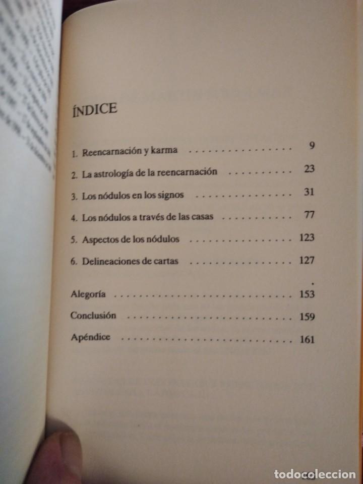 Libros de segunda mano: NODOS LUNARES Y REENCARNACION--MARTIN SCHULMAN-ASTROLOGIA KARMICA-INDIGO-2004 - Foto 7 - 202757977