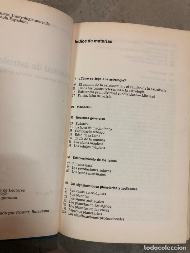 Libros de segunda mano: Manual de astrología - Foto 2 - 204646410